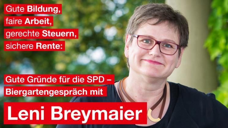 Gute Gründe für die SPD - ein Biergartengespräch mit Leni Breymaier
