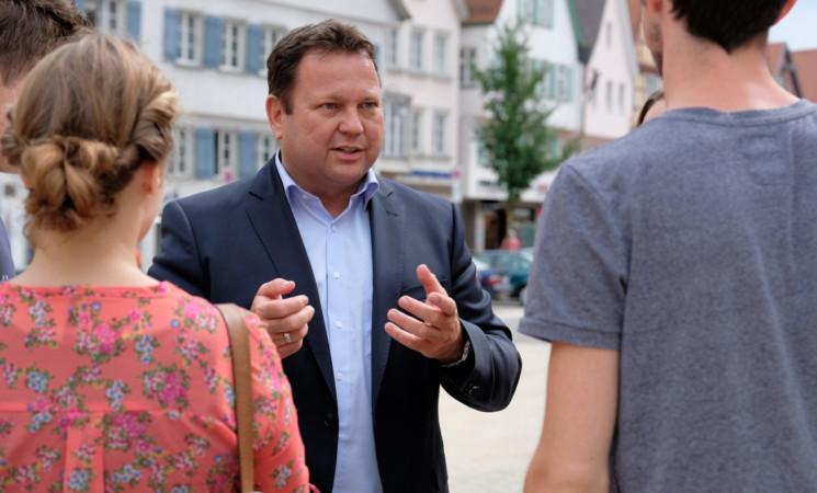 MdB Martin Gerster wieder an Marktständen