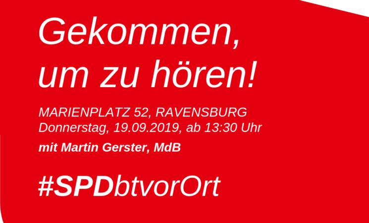 Martin Gerster auf dem Marienplatz in Ravensburg