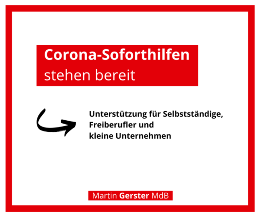 """""""Corona-Soforthilfen"""" stehen ab Mittwochabend zur Verfügung"""